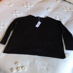 Long sleeve black top by Eileen Fisher